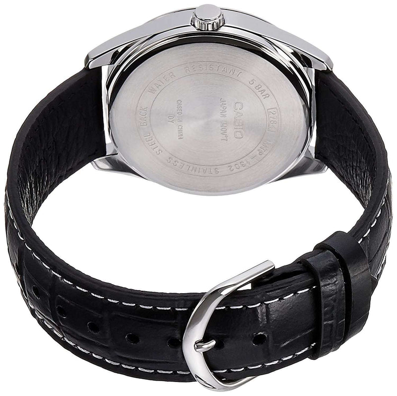 Casio MTP-1303L-7BVDF Black Leather Strap Watch for Men
