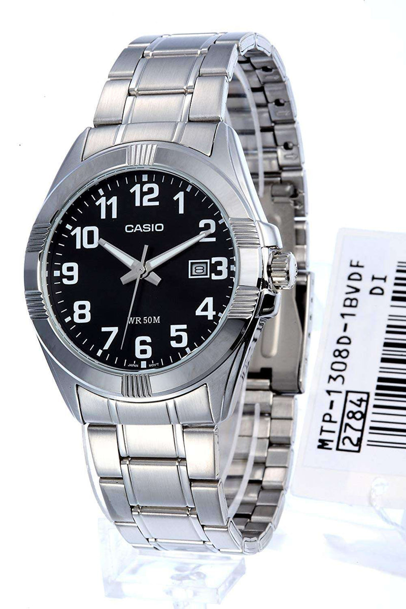 Casio MTP-1308D-1BVDF Silver Stainless Steel Strap Watch for Men