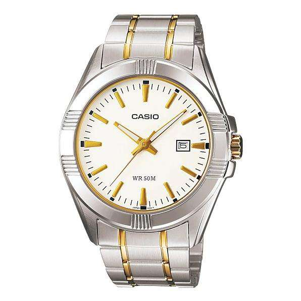 Casio MTP-1308SG-7AVDF Two Tone Stainless Steel Strap Watch for Men