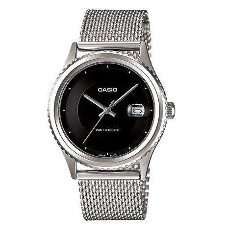 Casio MTP-1365BD-1EVDF Silver Stainless Mesh Strap Watch for Men