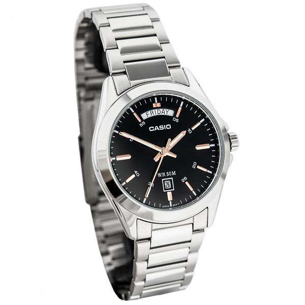 Casio MTP-1370D-1A2 Silver Stainless Watch for Men