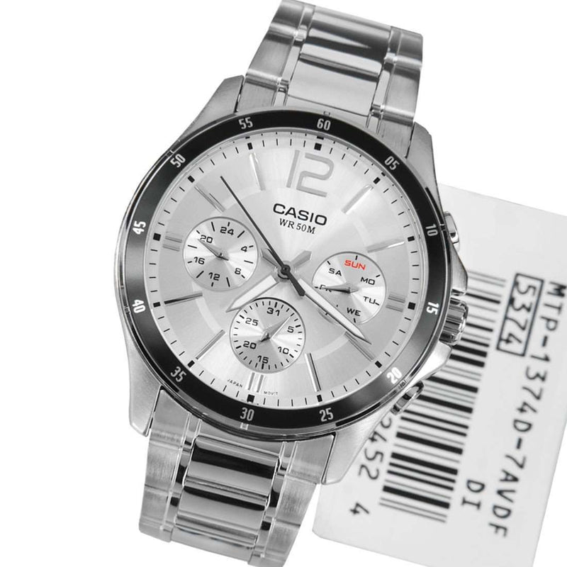 Casio MTP-1374D-7AVDF Silver Stainless Watch for Men