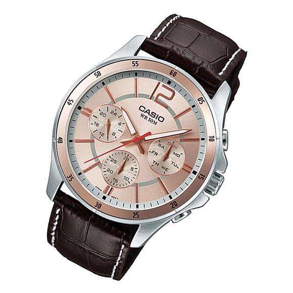 Casio MTP-1374L-9AVDF Brown Leather Strap Watch for Men