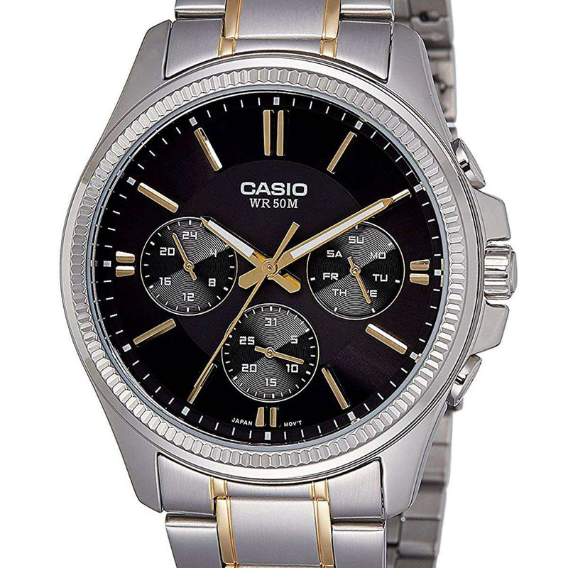 Casio MTP-1375SG-1A Two Tone Stainless Watch for Men