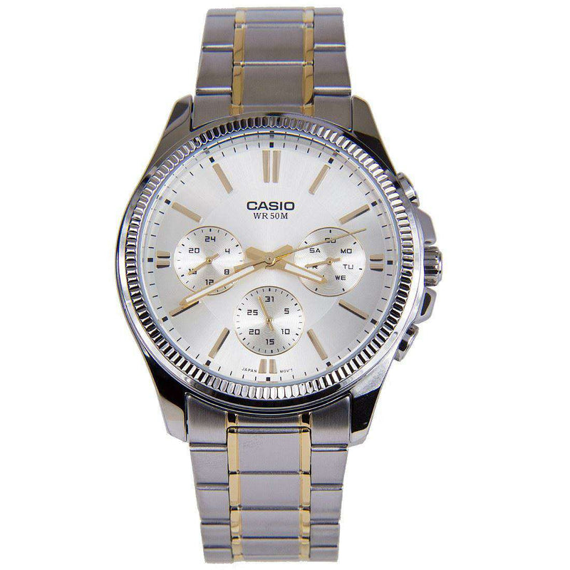 Casio MTP-1375SG-9A Two Tone Stainless Watch for Men