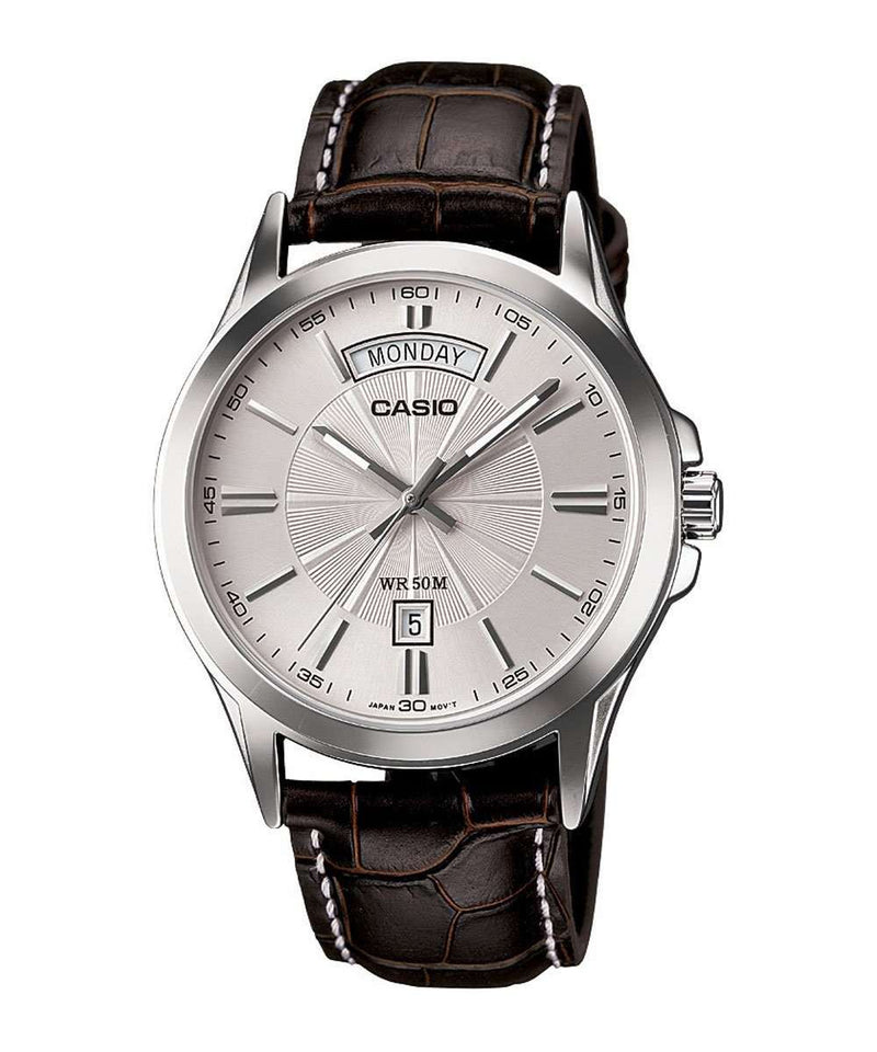Casio MTP-1381L-7AVDF Brown Leather Watch for Men