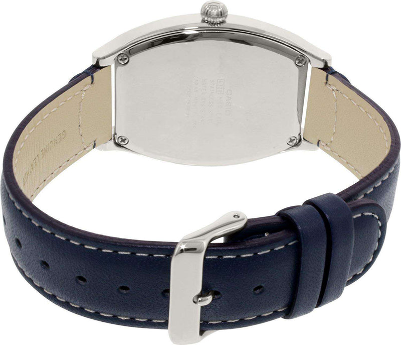Casio MTP-E114L-2ADF Blue Leather Watch for Men
