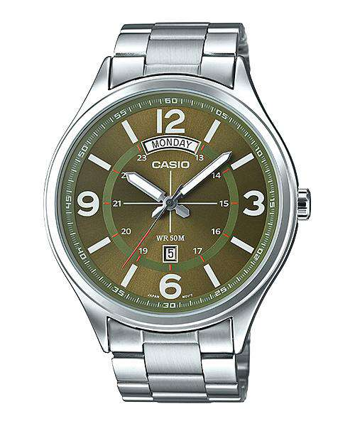 Casio MTP-E129D-3AVDF Silver Stainless Watch for Men