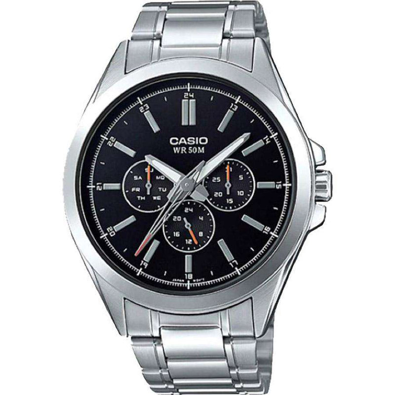Casio MTP-SW300D-1AVDF Silver Stainless Watch for Men