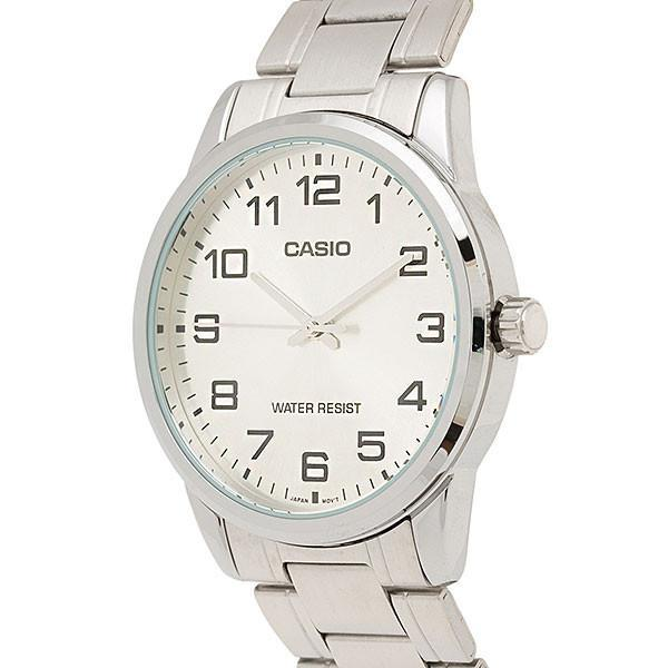 Casio Standard Men's Silver Stainless Steel Strap Watch- MTP-V001D-7B - Watchportal Philippines