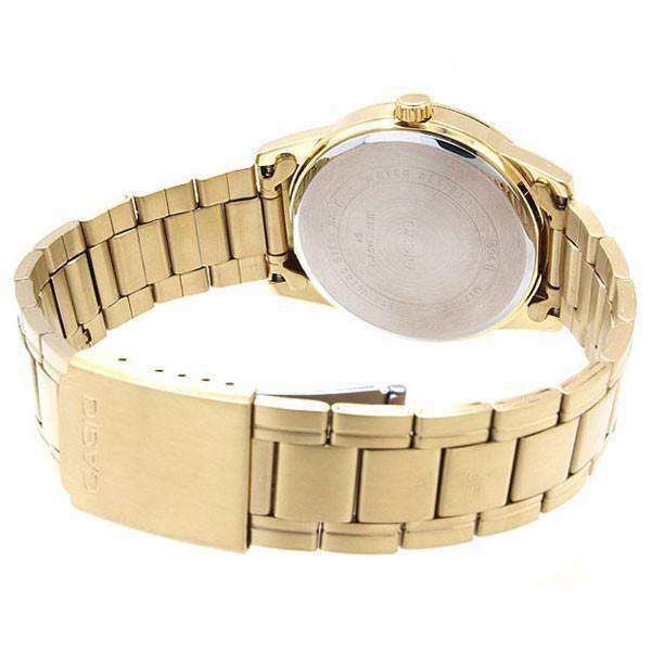 Casio Standard Men's Gold Plated Stainless Steel Strap Watch- MTP-V001G-9BUDF - Watchportal Philippines