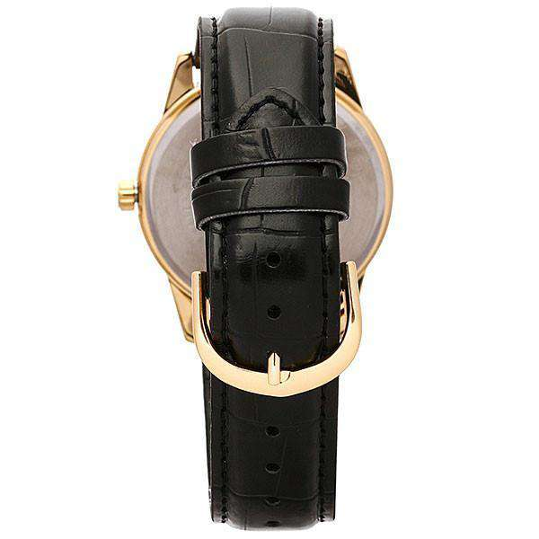 Casio Standard Men's Black Leather Strap Watch- MTP-V001GL-7B - Watchportal Philippines