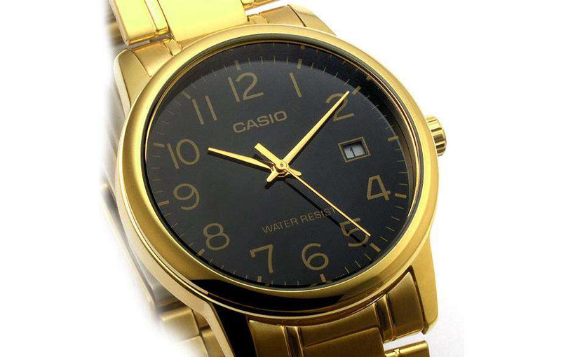 Casio MTP-V002G-1B Gold Stainless Watch for Men