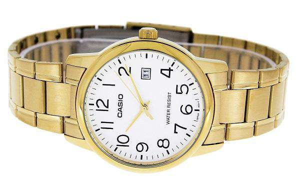 Casio MTP-V002G-7B2 Gold Stainless Watch for Men