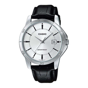 Casio MTP-V004L-7A Black Leather Watch for Men