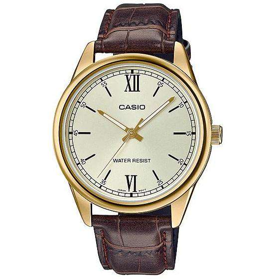 Casio MTP-V005GL-9BUDF Brown Leather Watch for Men