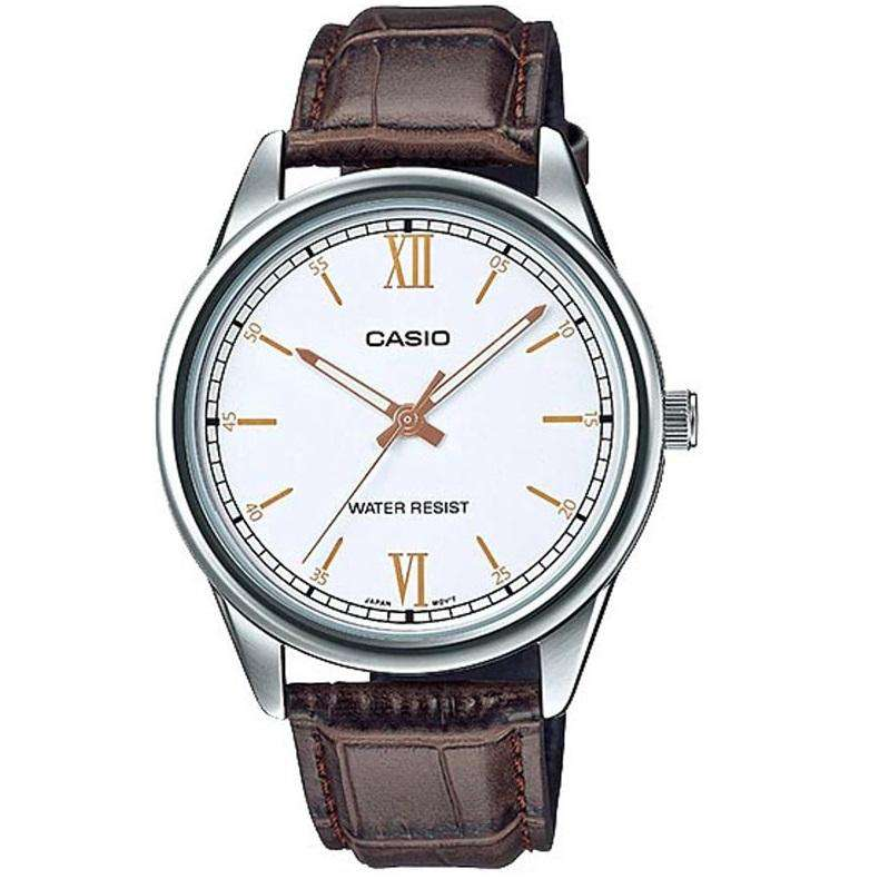 Casio MTP-V005L-7B3UDF Brown Leather Watch for Men