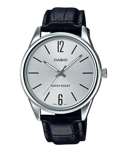 Casio MTP-V005L-7B Black Leather Watch for Men