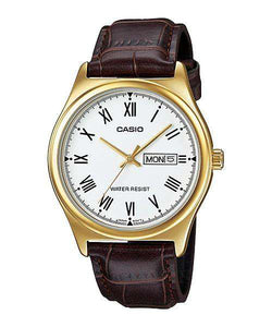 Casio MTP-V006GL-7B Brown Leather Watch for Men