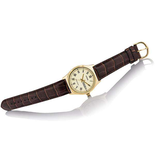 Casio MTP-V006GL-9B Brown Leather Watch for Men