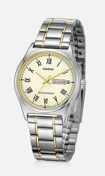 Casio MTP-V006SG-9B Two Tone Stainless Watch for Men