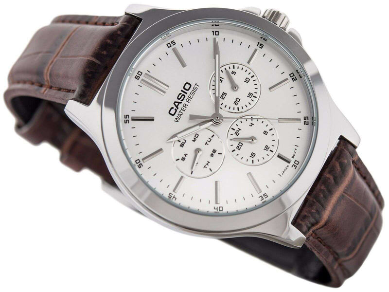 Casio Vintage MTP-V300L-7A Brown Leather Watch for Men