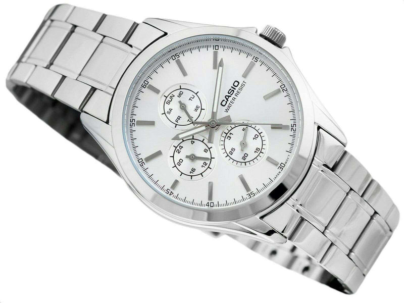 Casio MTP-V302D-7A Silver Stainless Watch for Men