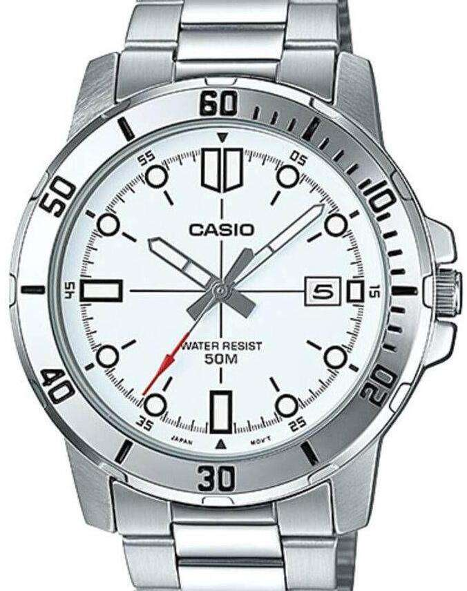 Casio MTP-VD01D-7EVUDF Silver Stainless Watch for Men