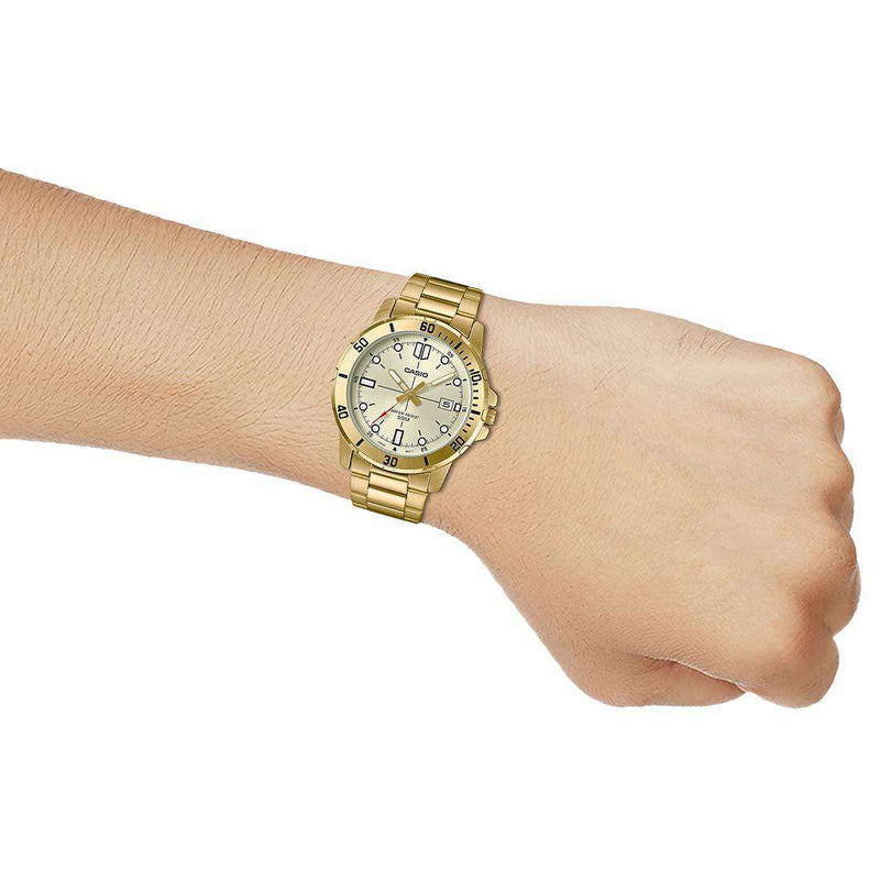 Casio MTP-VD01G-9EVUDF Gold Stainless Watch for Men