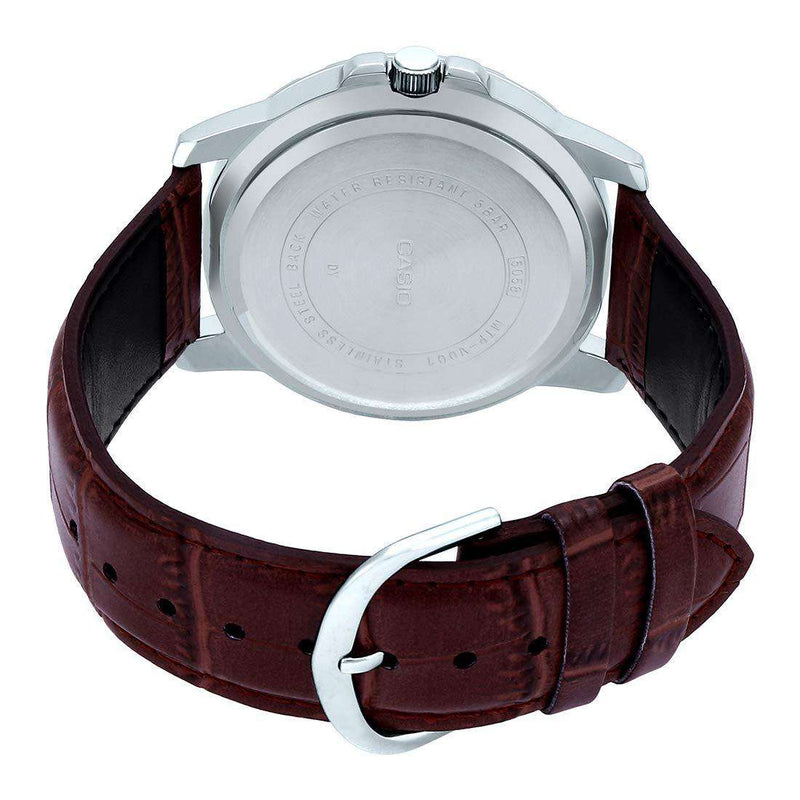 Casio MTP-VD01L-7BVUDF Brown Leather Strap Watch for Men