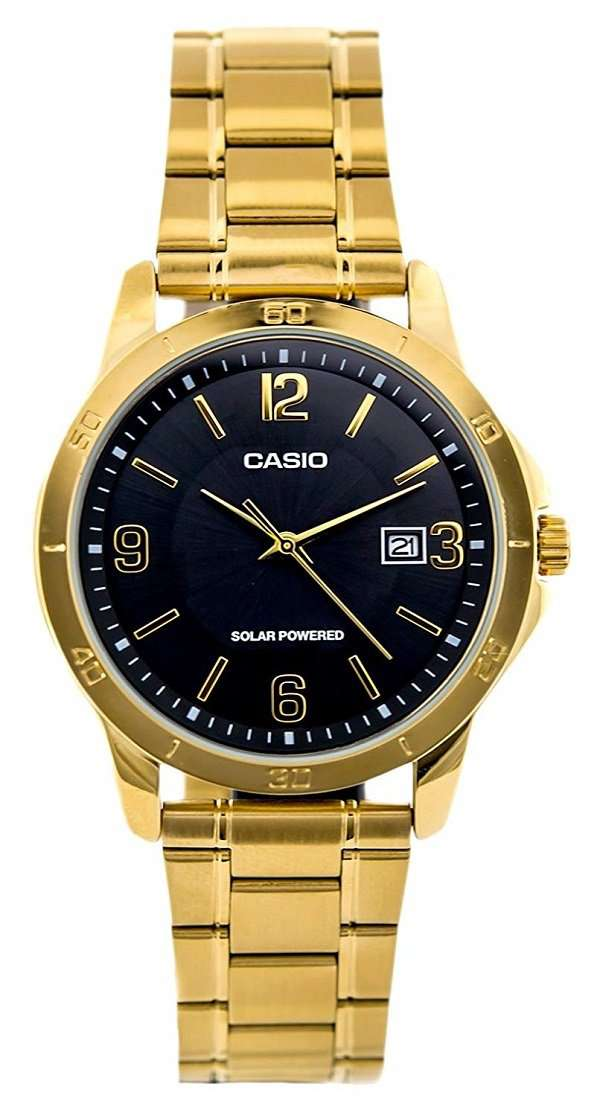 Casio MTP-VS02G-1A Gold Plated Watch For Men