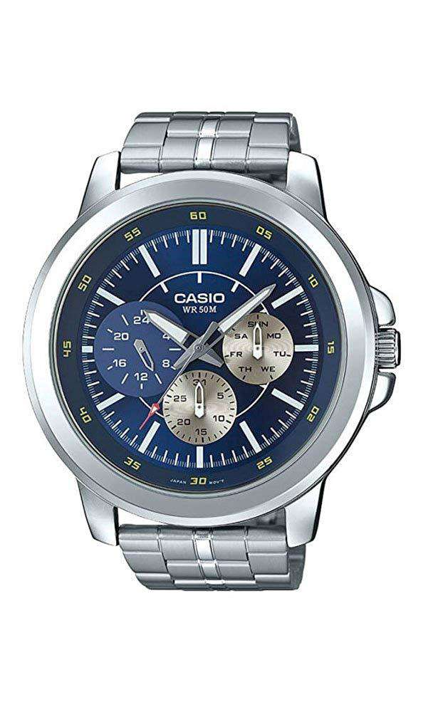 Casio MTP-X300D-2EVD Silver Stainless Steel Watch for Men