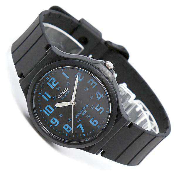 Casio MW-240-2BVDF Black Resin Strap Watch for Men