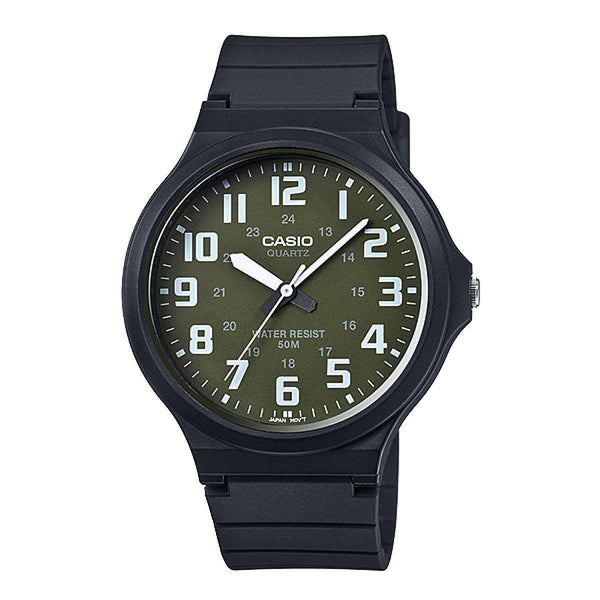 Casio Standard MW-240-3BVDF  Black Resin Strap Unisex Watch