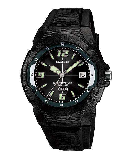 Casio Enticer MW-600F-1AVDF  Black Resin Strap Analog Men's Watch
