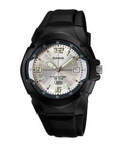 Casio Standard MW-600F-7AVDF Black Resin Strap Watch for Men