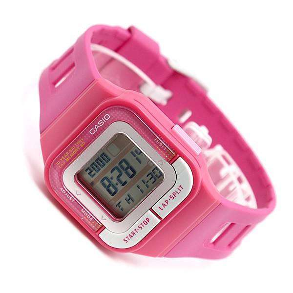 Casio SDB-100-4ADF Digital Pink Resin Strap Watch for Women