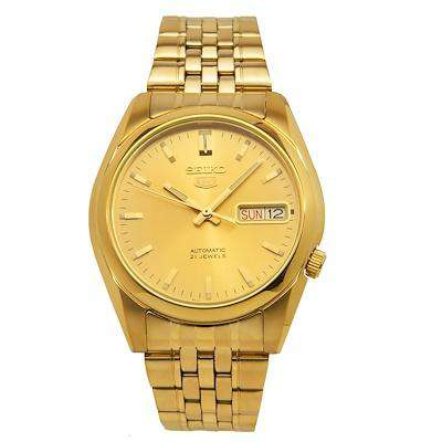 SEIKO SNK366K1 Automatic Gold Stainless Steel Watch for Men