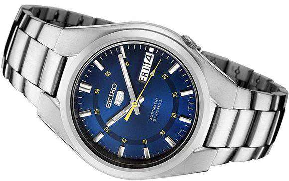 new arrivals 581ac 833ad SEIKO SNK615K1 Automatic Silver Stainless Steel Watch for Men