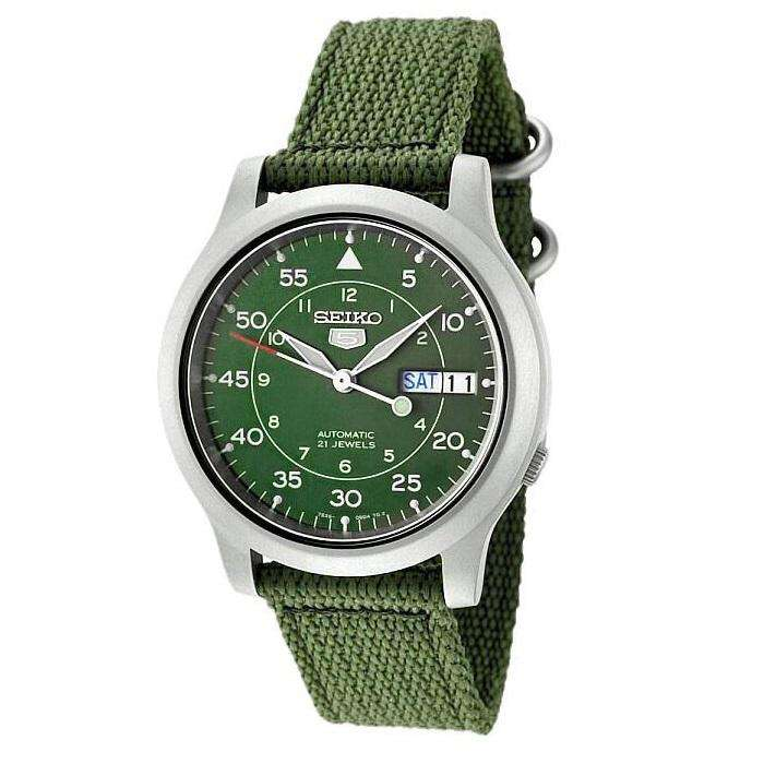 SEIKO SNK805K2 Automatic Green Automatic Nylon Strap Watch for Men