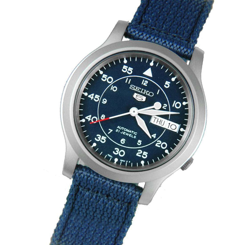 SEIKO SNK807K2 Automatic  Blue Nylon Strap Watch for Men