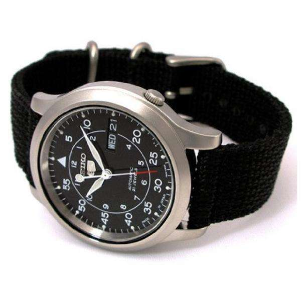SEIKO SNK809K2 Automatic  Black Nylon Strap Watch for Men