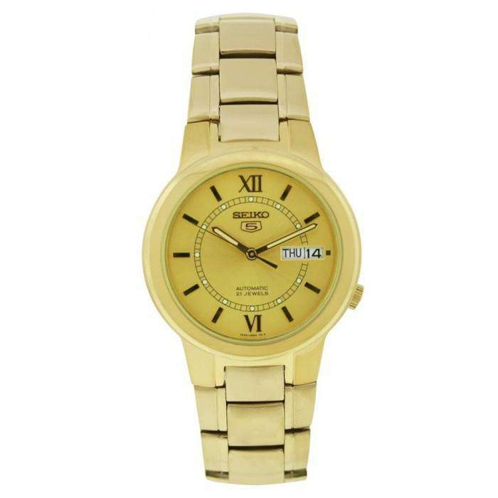 SEIKO SNKA24K1 Automatic Gold Plated Stainless Steel Watch for Men-