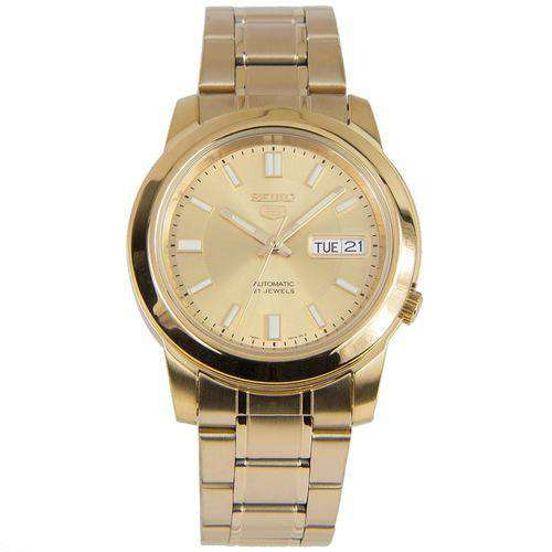 SEIKO SNKK20K1 Automatic Gold Plated Stainless Steel Watch for Men-