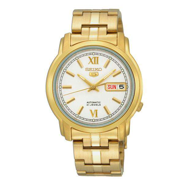 SEIKO SNKK84K1 Automatic Gold Stainless Steel Watch for Men