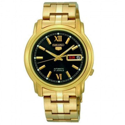 SEIKO SNKK86K1 Automatic Gold Plated Stainless Steel Watch for Men-