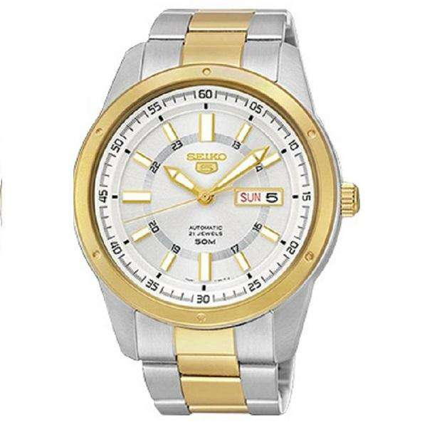 SEIKO SNKM58K1 Automatic Two-tone Stainless Steel Watch for Men-