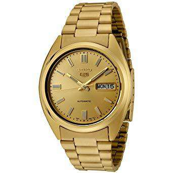 SEIKO SNXS80K Automatic Gold Stainless Steel Watch for Men