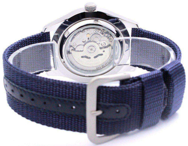 SEIKO SNZG11K1 Automatic Blue Nylon Watch for Men