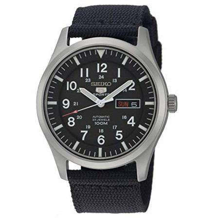 SEIKO SNZG15K1 Automatic Black Nylon Watch for Men